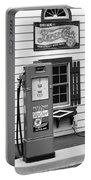 Route 66 - Illinois Vintage Pump Bw Portable Battery Charger