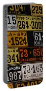 Route 66 Oklahoma Car Tags Portable Battery Charger