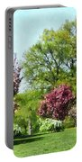 Row Of Flowering Trees Portable Battery Charger
