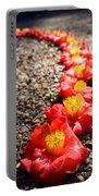 Row Of Flowers Portable Battery Charger