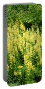 Row Of Yellow Flowers Portable Battery Charger