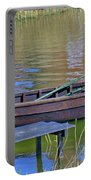 Rowboat And Blue Reflections Portable Battery Charger