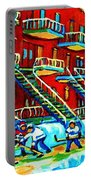 Rowhouses And Hockey Portable Battery Charger