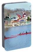 Rowing Along The Schuylkill River Portable Battery Charger