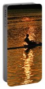 Rowing At Sunset 3 Portable Battery Charger