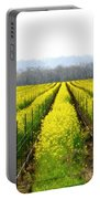 Rows Of Wild Mustard Portable Battery Charger