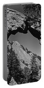 Royal Arch Trail Arch Boulder Colorado Black And White Portable Battery Charger