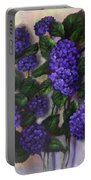 Royal Blue Hydrangea Portable Battery Charger