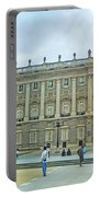 Royal Palace In Madrid In A Beautiful Summer Day, Spain Portable Battery Charger