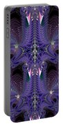 Royal Purple Backbone Fractal Abstract Portable Battery Charger