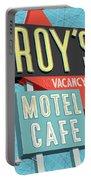 Roy's Motel Cafe Pop Art Portable Battery Charger by Jim Zahniser