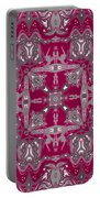 Rubies And Silver Kaleidoscope Portable Battery Charger