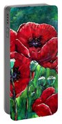 Rubies In The Emerald Forest Portable Battery Charger