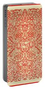 Rubino Red Floral Portable Battery Charger