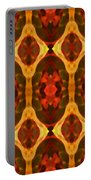 Ruby Glow Pattern Portable Battery Charger by Amy Vangsgard