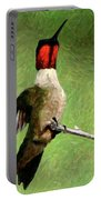 Ruby Red - Digital Art Portable Battery Charger