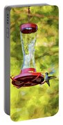 Ruby-throated Hummingbird 2 - Impasto Portable Battery Charger