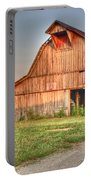 Ruddish Barn At Dawn Portable Battery Charger