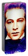 Rudolph Valentino, Vintage Movie Star Portable Battery Charger