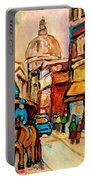 Rue St Jacques Old Montreal Streets  Portable Battery Charger