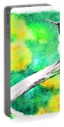 Ruffled Hummingbird - Digital Paint 5 Portable Battery Charger