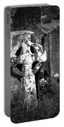 Rugged Cross At Fuerty Cemetery Roscommon Ireland Portable Battery Charger