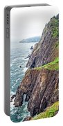 Rugged Oregon Coast On A Foggy Day Portable Battery Charger