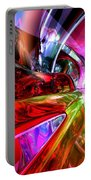 Runaway Color Abstract Portable Battery Charger by Alexander Butler