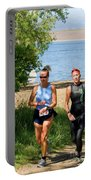 Runners At The 24 Hours Of Triathlon Portable Battery Charger