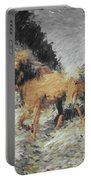 Running Horses Portable Battery Charger