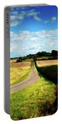 Rural Road In France Portable Battery Charger