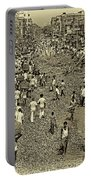 Rush Hour - Antique Sepia Portable Battery Charger