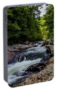 Rushing Falls In The Mountains Portable Battery Charger