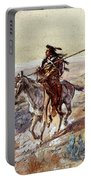 Russell Charles Marion Indian With Spear Portable Battery Charger