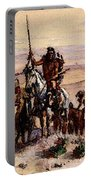 Russell Charles Marion Indians On Plains Portable Battery Charger