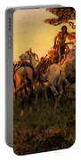 Russell Charles Marion Watching For Wagons Portable Battery Charger