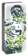 Russell Wilson Seattle Seahawks Pixel Art 10 Portable Battery Charger