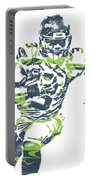 Russell Wilson Seattle Seahawks Pixel Art 12 Portable Battery Charger