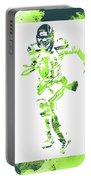 Russell Wilson Seattle Seahawks Water Color Art 1 Portable Battery Charger