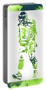 Russell Wilson Seattle Seahawks Water Color Art 2 Portable Battery Charger