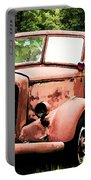 Rusted Mack Fire Engine Portable Battery Charger