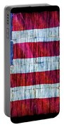Rustic American Flag Portable Battery Charger