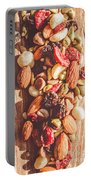 Rustic Dried Fruit And Nut Mix Portable Battery Charger