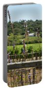 Rustic Fence In Wine Country Portable Battery Charger