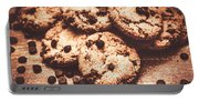 Rustic Kitchen Cookie Art Portable Battery Charger