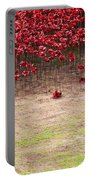 Rustic Poppy Garden Portable Battery Charger
