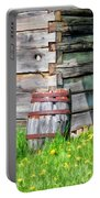 Rustic Rain Barrel At Old World Wisconsin Portable Battery Charger