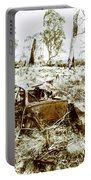 Rustic Rural Decay Portable Battery Charger