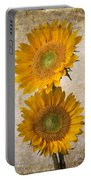 Rustic Sunflowers Portable Battery Charger