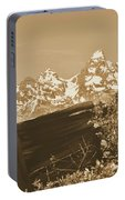 Rustic View Of Grand Teton Portable Battery Charger